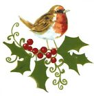 Christmas Holly Robin Berries Select-A-Size Waterslide Ceramic Decals Bx  image