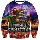 Goodstoworld Unisex Women/Men Ugly Christmas Sweater Shirts 3D Funny Pullover Sw