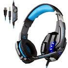 EACH G9000 Stereo Gaming Headset USB LED Light Headphone for PS4 PC Xbox One