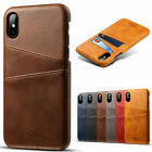 For Iphone 7 8 Plus Xs Max Xr Pu Leather Wallet Card Slot Holder Back Cover Case