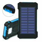 Waterproof 900000mAh Dual USB Portable Solar Charger Solar Power Bank Flashlight