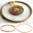 Round Wooden Knitting Loom Tapestry Frame Tool Machine Wall Hanging Decoration