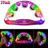 More images of 2PCS LED Musical Tambourine Flashing Tambourines Hand Percussion Instrument