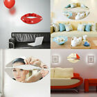 Novelty 3d Wall Sticker Lip Mirror Wall Stickers Decals Modern Home Decoration