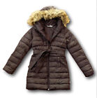 NWT Hollister by Abercrombie Scripps Pier Parka Puffer Jacket Coat Brown XS/S
