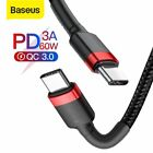Baseus 60W Type C to USB C Charger Cable PD Fast Charge Lead for Macbook Huawei