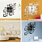 Creative 3D Mirror Wall Sticker Wall Clock Art Decals Removable Home Decoration