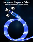 3 in 1 Magnetic 360° LED Flowing Micro USB - Type C - iPhone iOS Cable