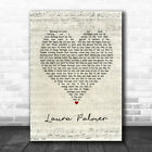 Laura Palmer Script Heart Song Lyric Quote Music Print