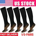 5 Pairs Copper Fit Energy Knee High Compression Socks Pain Relief SM L/XL XXL US $10.99 USD on eBay