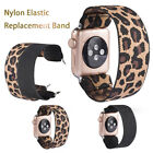 Replacement Elastic Fabric Band Leopard Print Bracelet for Apple Watch5 4 3 2 1 image