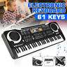 More images of MUSICAL KEYBOARD PIANO 61 KEYS ELECTRONIC ELECTRIC DIGITAL BEGINNER KIDS SET UK