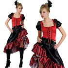 Sexy Can Can Saloon Costume da Bambina Wild West Burlesque Cowgirl Costume Donna