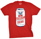Mens Let Freedom Drink Tshirt Funny 4th Of July Beer Tee For Guys