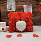 2020 new 25-35cm two rose bear artificial flower Valentine's Day gift for girlfr