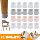 4-16x Silicone Chair Legs Caps Non-slip Cover Pad For Furniture Floor Protectors