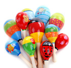 Colorful Cute Wooden Maraca Rattles Baby Rattles Children Shaker ToyS Baby Sound