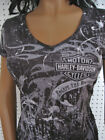 nwt HARLEY DAVIDSON *Eternal Flames* V-Neck All Over Top Shirt $34.99 USD on eBay