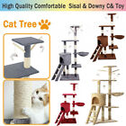 Cat Tree Activity Centre Scratcher Scratching Post House With Toys Sisal 3 Layer