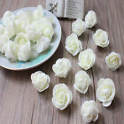 100 Foam Mini Roses WHOLESALE Heads Buds Small Flowers Wedding Home Partys UK