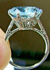 Aquamarine Ring/ Sterling Silver/5ct Simulated Gem Edwardian 1910[Made To Order]