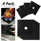4 Gas Range Stove Top Burner Protector Reusable Liner Clean Cook Non-stick Cover
