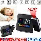 Digital LCD Projection Alarm Clock LED Temperature Weather Station Snooze 12/24