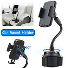 Weather- Adjustable Car Cup Mount Gooseneck Holder Cradle For iPhone Cell Phone