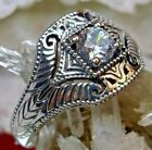 .5ct White Gem Sterling Silver Art Deco Filigree Ring Size: Made To Order  189