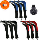 Golf Club Wood Head Covers Hybrids Headcovers Protect Long Neck US