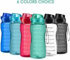 64oz Motivational Water Bottle With Straw And Time Marker Leakproof Bpa Free