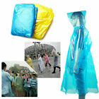 20x Disposable Adult Emergency Waterproof Rain Coat Poncho Hiking Camping Hood
