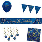 NAVY & GOLD GEODE 21ST Birthday Party Range - Tableware Balloons & Decorations