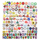 US Stock Varied 24-200pcs Shoe Charms Decoration Letters Balls Animals Flowers
