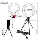 Dimmable LED Ring Light + Tripod Stand Mini Camera Light Cell Phone Holder ST