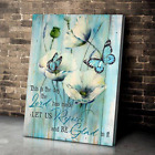 Butterfly This Is The Day Psalm 118:24 Christian Wall Decor Poster No Frame