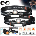 2 Modes USB Rechargeable Headlamp COB LED Headlight Head Light Torch Flashlight