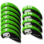 11Pcs/set Golf Clubs Iron Head Covers Headcovers Skull Print By Craftsman Golf