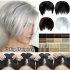 Silk Straight As Human Hair Clip in Flat Bang Topper Hairpiece Cover Loss Hair