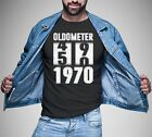 Oldometer 49 50 Year-Old Born In 1970 Funny Birthday Dad Mom Gift T-Shirt