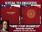 Stealth Diggers mind your business live free or die red shirt metal detecting