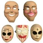 Adult Evil Grin Mask Purge Smile Scary Halloween Fancy Dress Costume Ghost lot