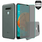 For LG K51 Solid TPU Cover Case + Tempered Glass
