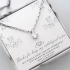 To My Unbiological Sister-Elegant Solitaire-Stainless Steel Chain Selection