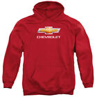 Chevy Chevy Bowtie Stacked Mens Pullover Hoodie Red