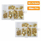 Butterfly Clutch Pin Back Clasps Metal Clutch Lapel Pin Backs For Pin Post Pins