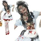 Adult Zombie Dorothy Costume Halloween Ladies Womens Fancy Dress New