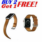 For iWatch Leather Band Strap Herme Style Belt Apple Watch Series 5 4 3 2 1 US image