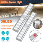 30 LED USB Rechargeable Motion Sensor Closet Lights Wireless Under Cabinet Light