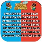 Animal Crossing New Horizons BELLS, NOOK TICKETS, FISH BAIT FAST DELIVERY